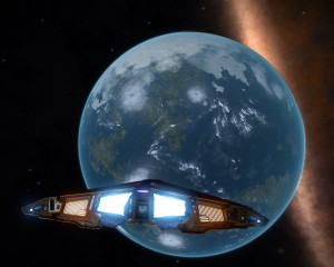 Ice cap, water, land, breathable atmosphere... My first Earth-like world discovery.
