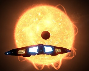 A small planet, rather close to its sun. A close binary companion not visible on the screenshot means that it's even hotter than it looks here.