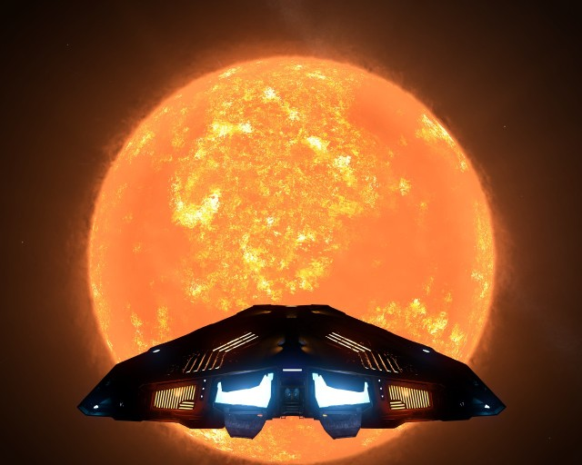 A giant S Type star, from 300 light seconds away.