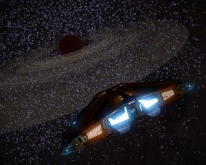 Transluscent rings in the dense star fields of the core.